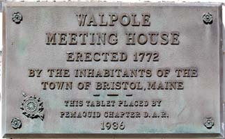 Walpole, ME Meetinghouse